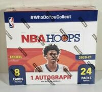 New Sealed 2020-21 NBA Pannini HOOPS SEALED 24 PACK RETAIL BOX! SLAM! Auto!