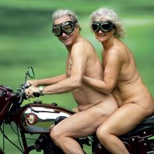 Funny Blank Greeting Card Naughty Nudes on Motorbike Any Occasion / Birthday NEW