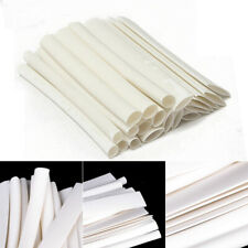 20pcs 100mm 3/4:1 Heat Shrink Tubing Wire For iPhone/Android Data Cable White