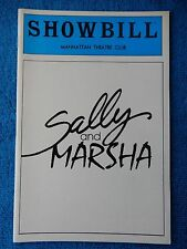 Sally And Marsha - Manhattan Theatre Club Playbill - March 1982 - Peters