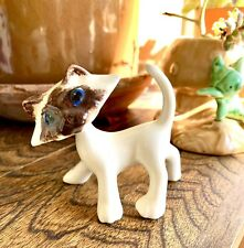 Vintage Blue Eyed Siamese Cat Ceramic Swivel Head