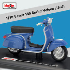 Maisto 1:18 Vespa 150 Sprint Veloce 1969 Motorcycle Scooter Model Toy New