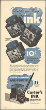 1940 Vintage ad for Carter's Ink`Fountain Pen` photo retro (020616)