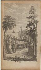 Hafenmeister BÜRO Hafen Zoll Orig Kupferstich 1760 Segelschiffe Seereise reisen