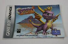 Spyro 2: Season of Flame - NTSC - Nintendo Gameboy Advance Instruction Manual