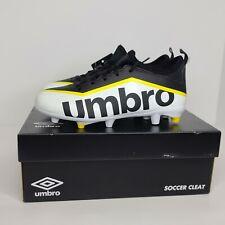 Boys Umbro Pivot Soccer Cleats - Size 3Y White Black Yellow NWT