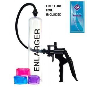 "X Factor Large 12"" Penis Pump Vacuum Male Enlarger Extender 3 Sleeves Included"