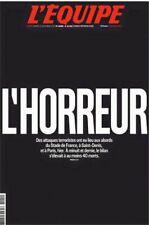 L HORREUR JOURNAL L EQUIPE 14 NOVEMBRE 2015 RARE