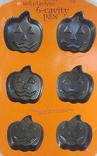 Wilton Halloween Jack-o-Lantern 6 Cavity Bake Pan