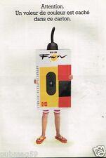 Publicité advertising 1991 Appareil photo Jetable Kodak