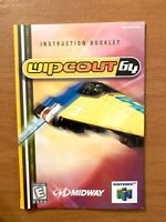 Wipeout 64 (Nintendo 64, 1998)  Wipe out Instruction Manual Booklet ORIGINAL