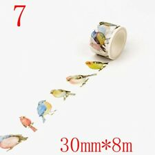 Watercolor Flowers Scenery Washi Tape Adhesive DIY Scrapbooking Masking Tapes