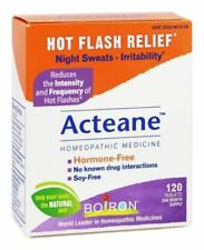 Boiron ACTEANE for Hot Flashes, Night Sweats & Irritability Relief, 120 Tablets