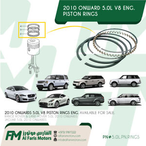Range Rover / Land Rover / Jaguar 5.0L PISTON RINGS SET V8