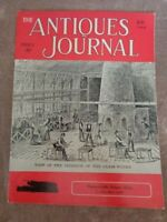 Antiques Journal 1960 Westward-Ho Pattern Glass Side Column Clocks Earrings Doll