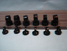12 PAIR SILICONE BLACK TIRES FOR AURORA AFX H.O. SCALE SLOT CARS LOT #5 SEE DETS