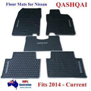 Grey Waterproof Rubber Floor Mats for Nissan QASHQAI 06/2014 - 2021 Current