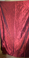 """Home Burgandy Satiny Drapery Panels x2 - Each panel is 54"""" wide and 81"""" long"""