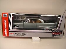 AUTO WORLD DIECAST METAL 1:18 SCALE GRAY 1957 CHRYSLER 300C BLEM