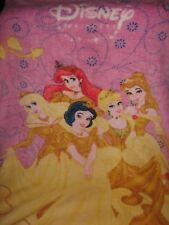 Disney Princess Fleece Blanket Throw Beauty Belle Snow White Cinderella Ariel