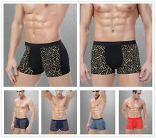 2 Pcs Packed S Flowers Bamboo Men's Underwear Boxer Briefs Pouch Underpants