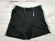 STAR Mens Shorts Size Large (36-38)100% Polyester Black with Gray Trim