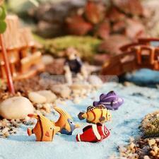 10 Miniature Tropical Fish Fairy Garden Terrarium Figurine DIY Bonsai Craft