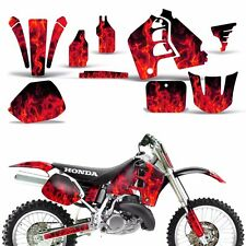 CR 500 Graphic Kit Honda Decal Wrap w/Backgrounds Rims Sticker CR500 91-01 ICE R