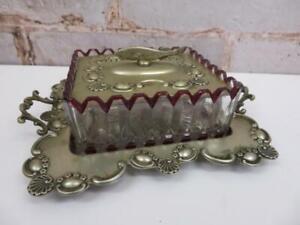 rare antique Victorian art nouveau sardine dish