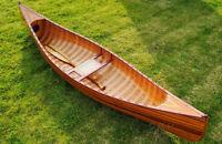 Large Display Cedar Strip Built Canoe 10' Wooden Model Boat Woodenboat USA New