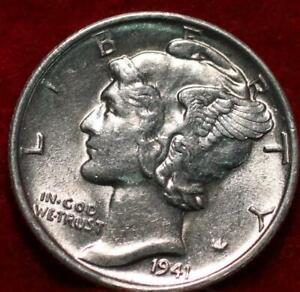 Uncirculated 1941-S San Francisco Mint Silver Mercury Dime