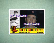 Billy Muffett Boston Red Sox 1960 Style Custom Art Card