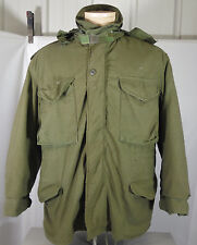 GREEN 1980'S U.S.A. MEN'S COLD WEATHER FIELD JACKET WITH REMOVABLE LINER