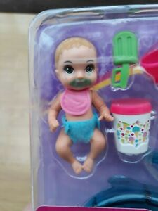 Barbie GHV84 Skipper Babysitters Inc colour-changing bathing baby doll