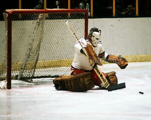 NHL 1972 Eddie Giacomin New York Rangers Game Action Color 8 X 10 Photo Picture