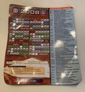 """Chicago Cubs 2008 Magnet Schedule Old Style Beer MLB Baseball 7.5"""" x 6.25"""""""