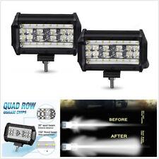 "2 Pcs 5"" 4-Row 168W Spot Flood Combo LED Car SUV 4WD Working Driving Lights DRL"