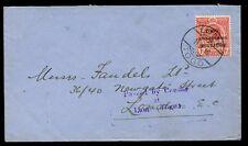 Togo WW1 Anglo Francese occupazione 1D Cover UK Lome TOGO PMK + passati censore