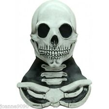 ADULT SKELETON SKULL HALLOWEEN FANCY DRESS FULL LATEX HEAD AND NECK COSTUME MASK