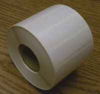 """Labels,White Polyester, 2"""" x 0.5"""",1000/roll,1"""" core for Thermal Printers, 1 roll"""
