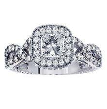 1.84 CT Princess Cut Diamond Engagement Ring in Braided Platinum Setting