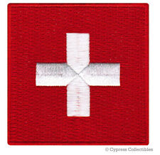 SWITZERLAND FLAG embroidered iron-on PATCH SWISS EMBLEM Confoederatio Helvetica