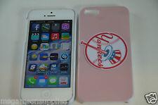 Pink New York NY Yankees MLB Baseball Hard Plastic Full Case iPhone SE 5S 5G 5