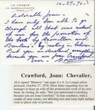 MAURICE CHEVALIER original postcard to JOAN CRAWFORD