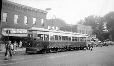 ORIGINAL PHOTO NEGATIVE-Railroad Unidentified Trolley