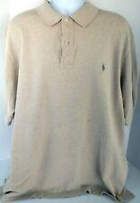 Men'S Polo Ralph Lauren Short Sleeve Polo Shirt Size 2Xlt Xxl Tall Beige