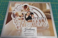 "GORHAM 1831 SENTIMENTAL TRADITIONS ""HAPPY BIRTHDAY"" CRYSTAL PIC FRAME - GERMANY"