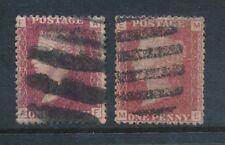 GB QV inspectores prohibida cancela en Penny Rojo Platos 174 + 195 Fine Used