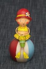 Lori Mitchell ~ Bessie's Beach Ball ~ Collectible Beach Figurine ~Free Shipping!