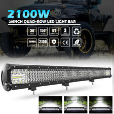 29inch 2100W LED Light Bar Flood Spot Combo Work Lamp OffRoad UTV 4WD Boat 28/30
